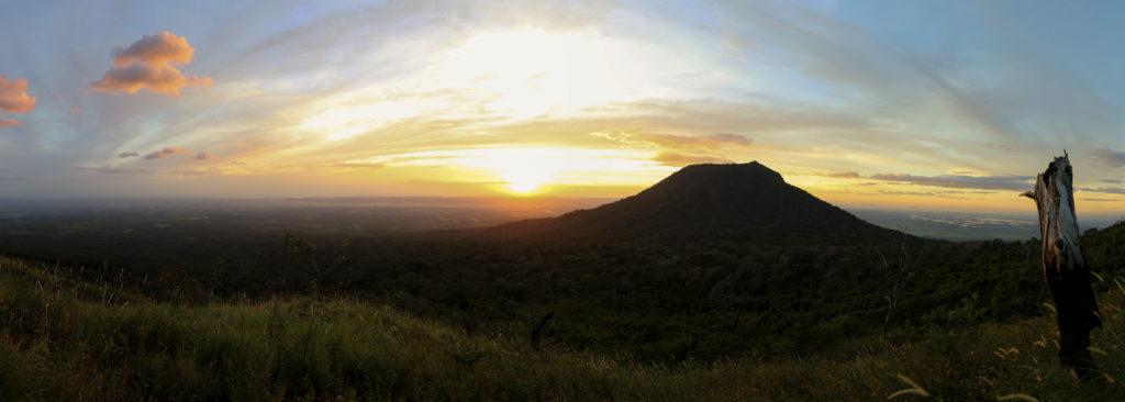 Der Sonnenuntergang in seiner vollen Pracht.